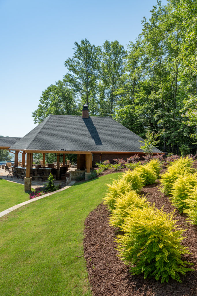 Plantings for a Dawsonville Lake Lanier home