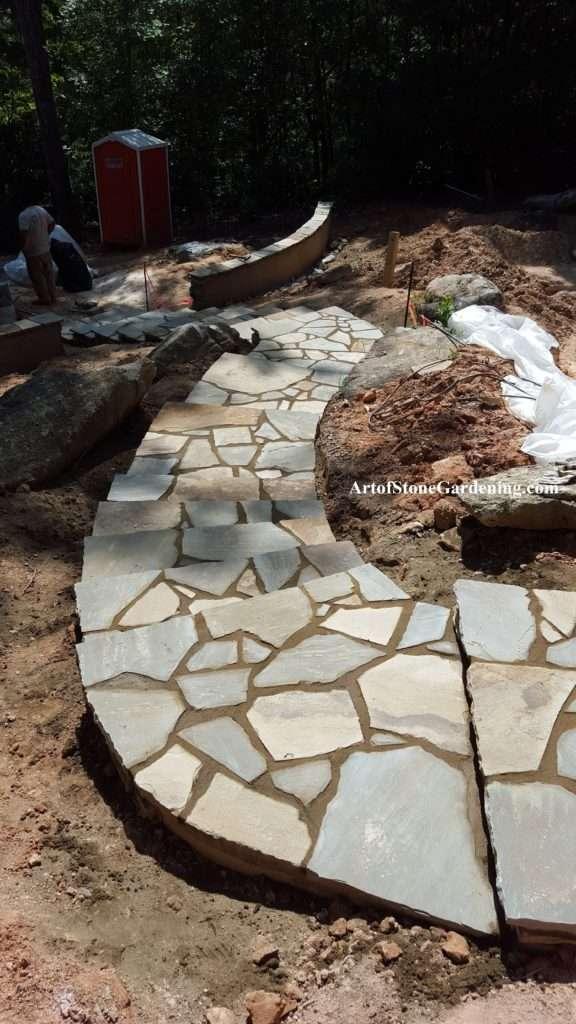 Flagstone step tops