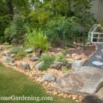 dry creek bed and garden