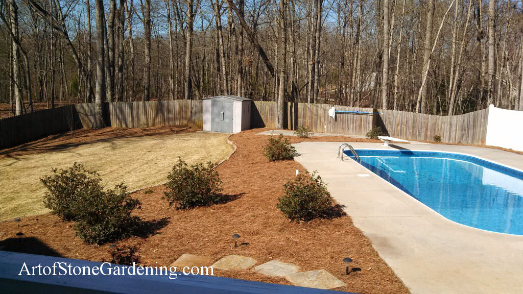 Art of Stone Gardening Swimming Pool Patio
