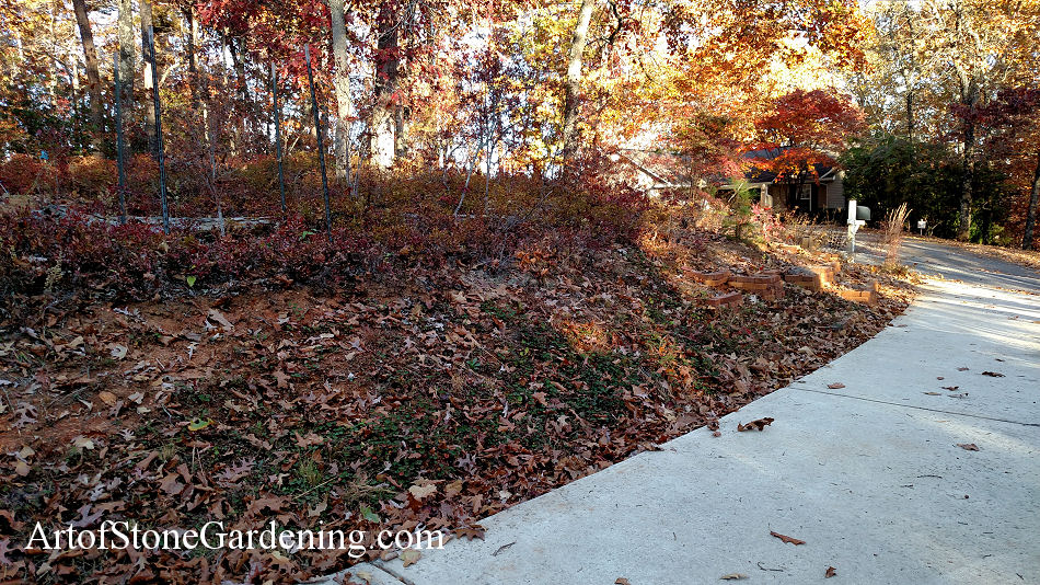 Curb Appeal Driveway Landscape Makeover with Boulder Gravity Wall