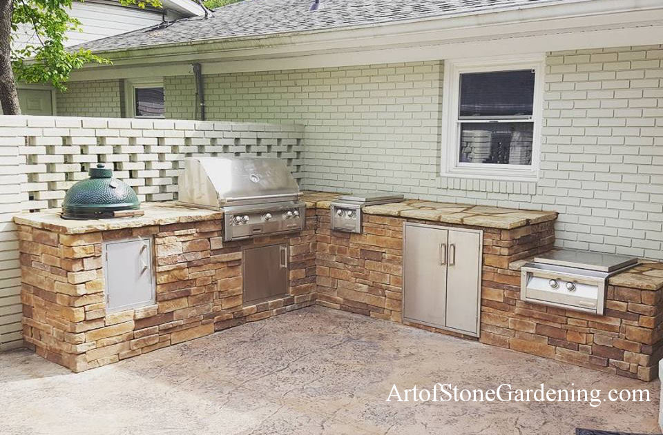 Ideas for Building an Outdoor Kitchen Art of Stone Gardening