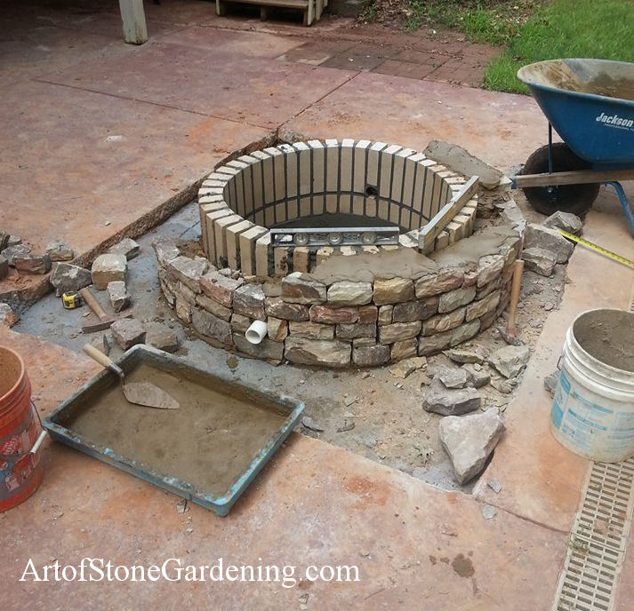 Built Concrete Patio Fire Pit