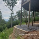 Block retaining wall in Hiawassee