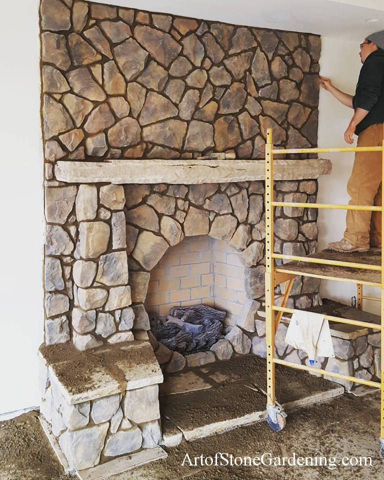 Unique Stone Circular Fireplace Home Remodeling | Art of Stone ...