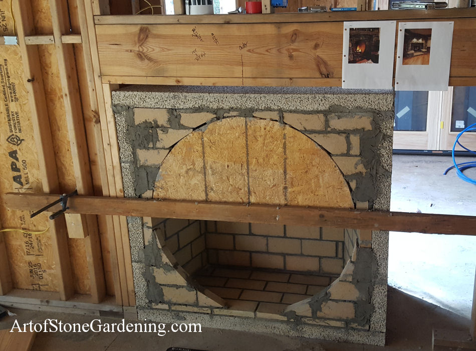 Unique stone circular fireplace home remodeling art of for Isokern fireplace inserts