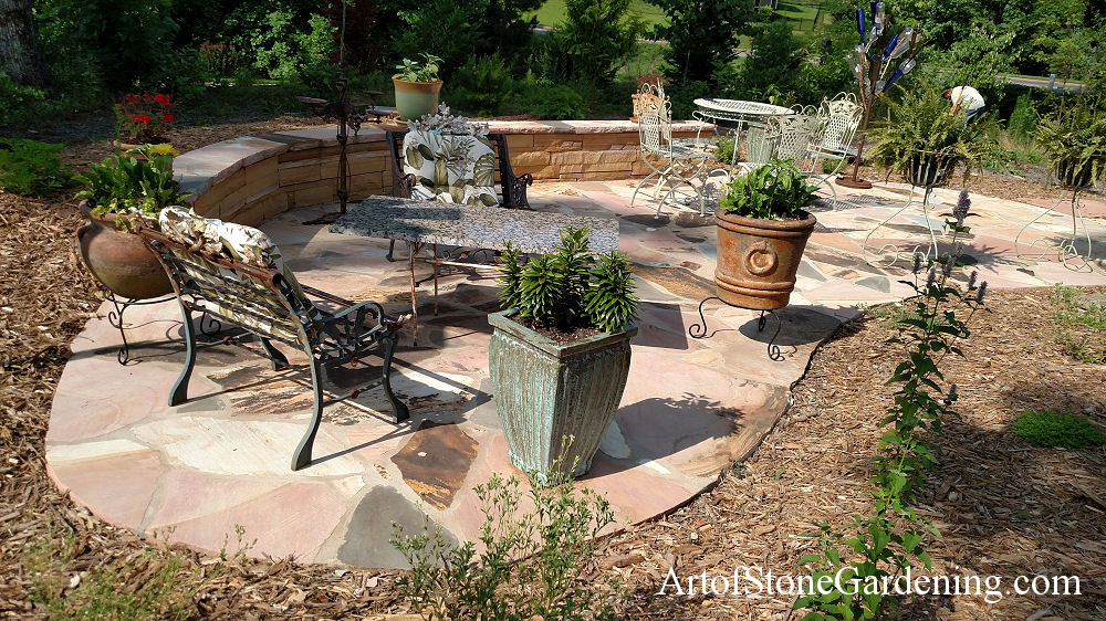 Custom Flagstone patio in Dawsonville