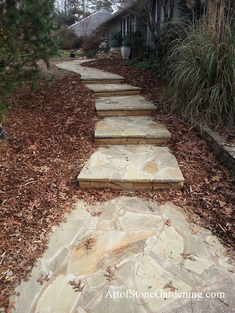 Flagstone steps and entrance
