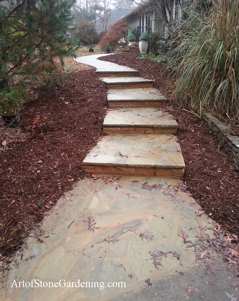 New stone entrance and steps