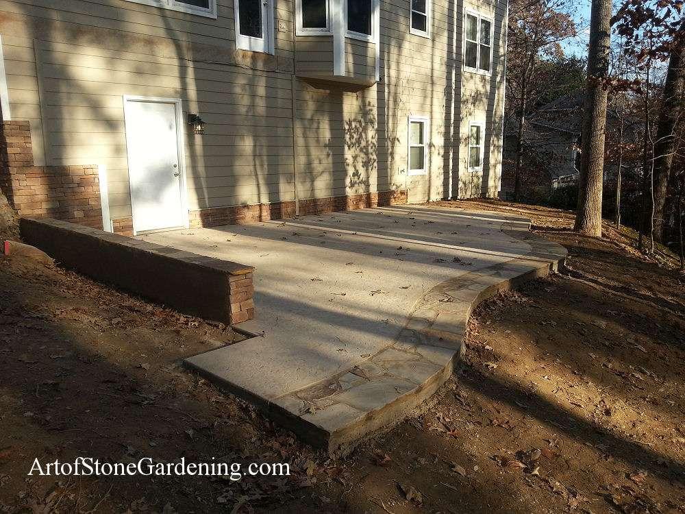 Concrete and stone patio