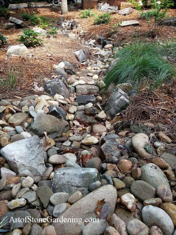 Dry creek bed in Dawsonville, GA