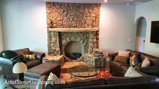 circular fireplace