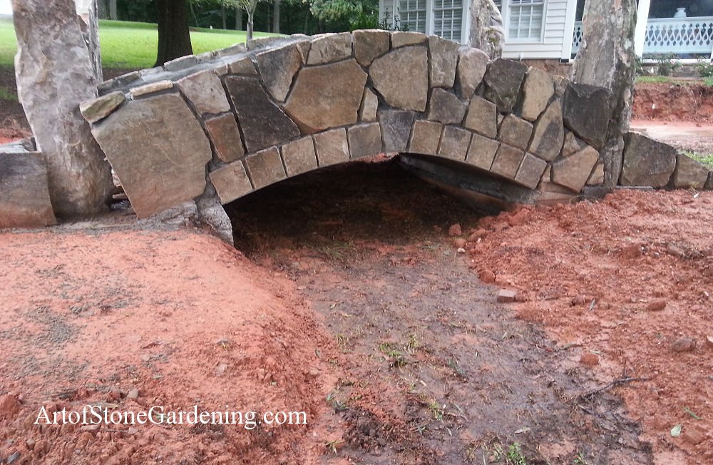 Custom stone bridge in Cumming