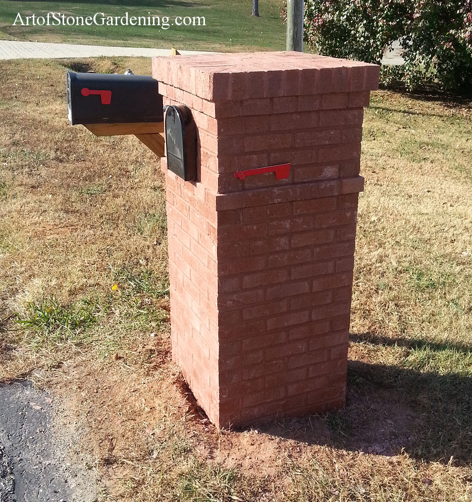 Masonry brick mailbox in Gainesville