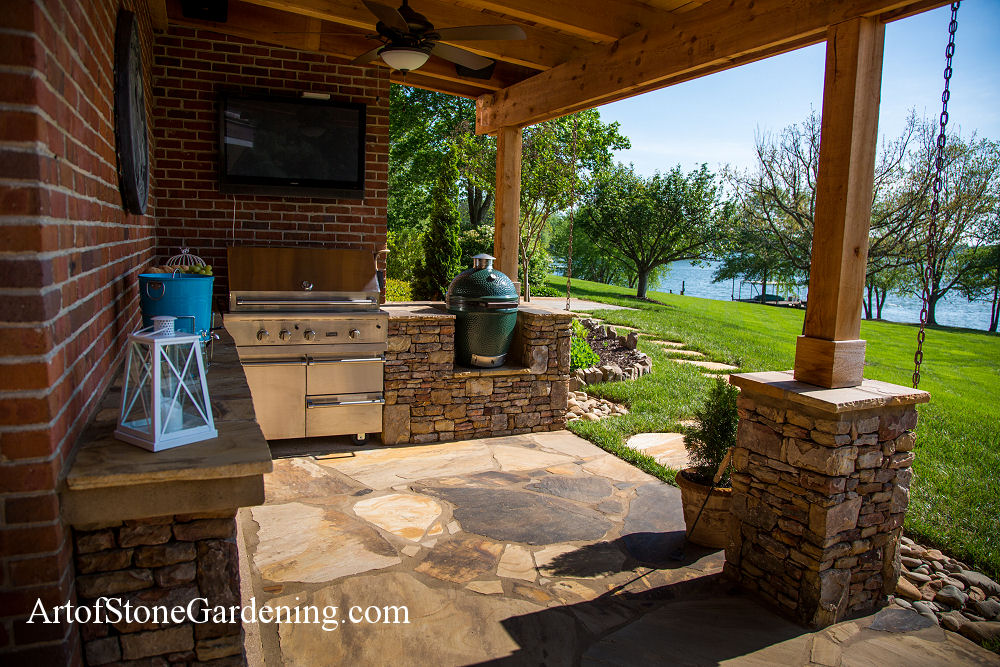 Outdoor Masonry Kitchen