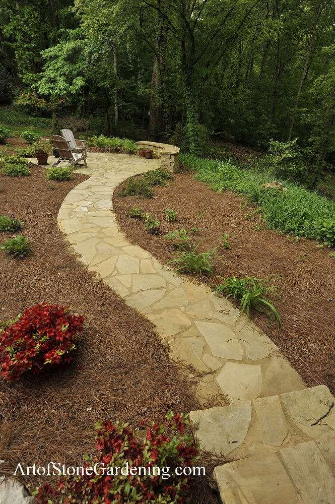 Masonry flagstone path