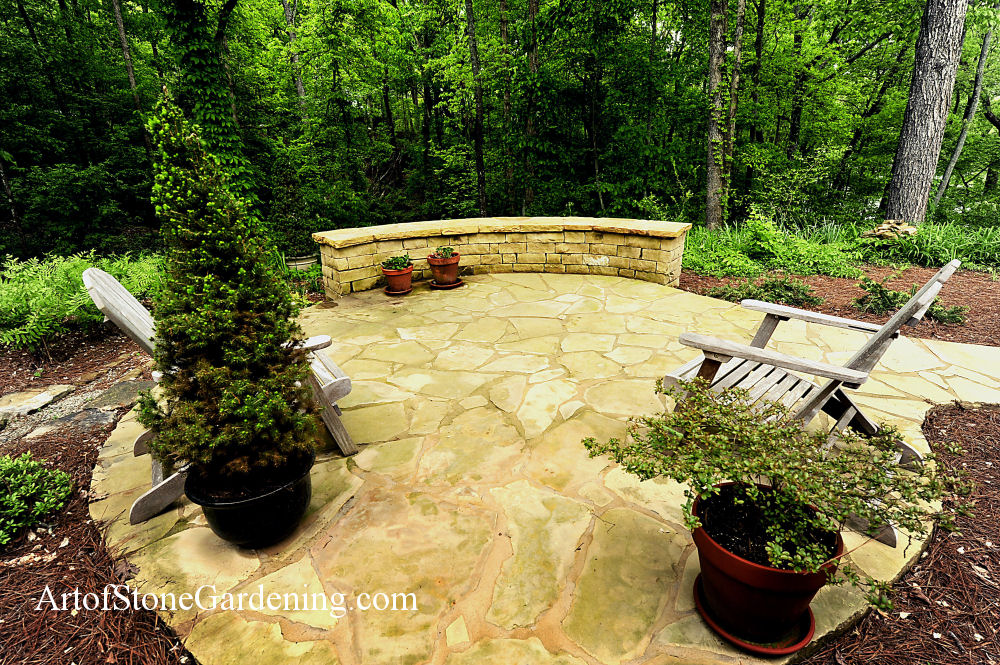 Flagstone patio in Dahlonega