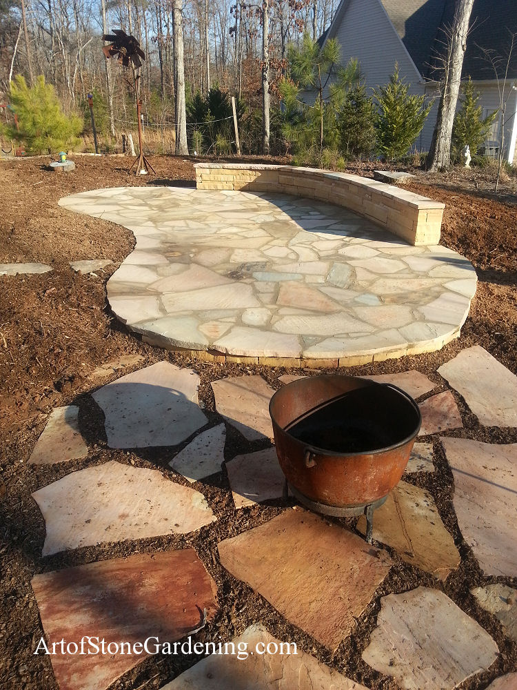 Stone patio in Dawson county