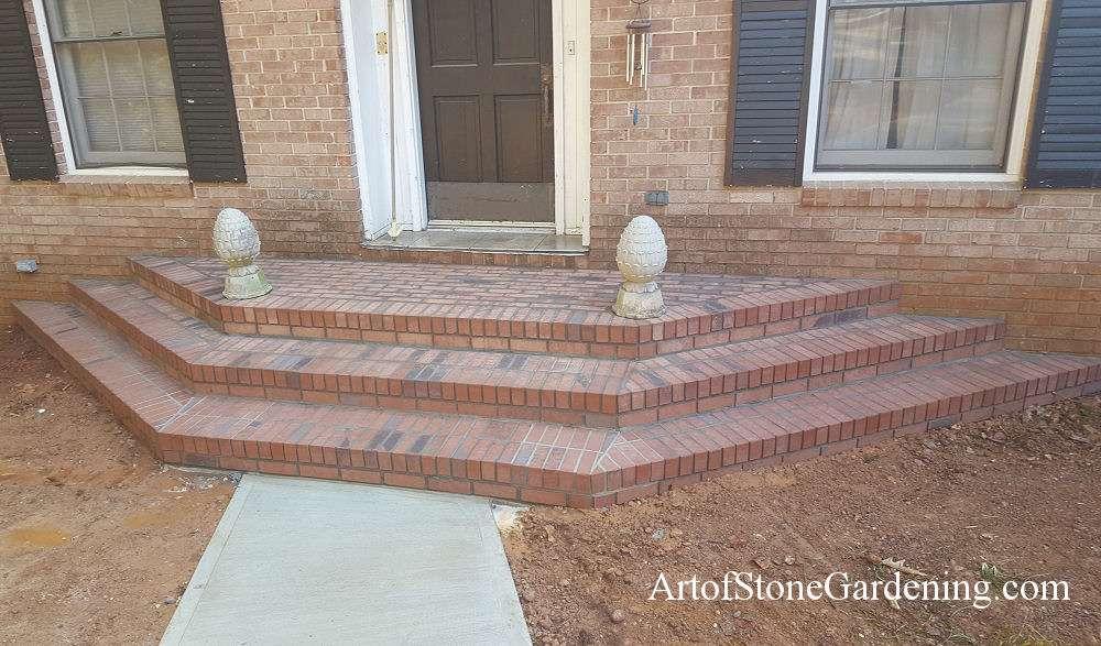 Brick front steps