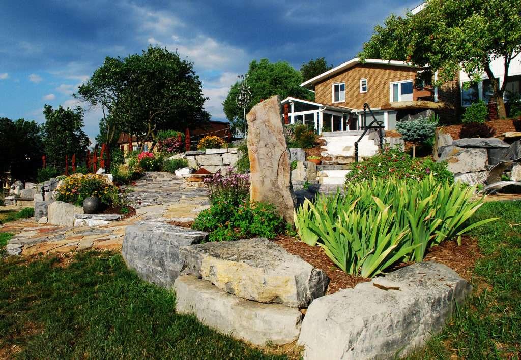 Boulder gardens and perennials