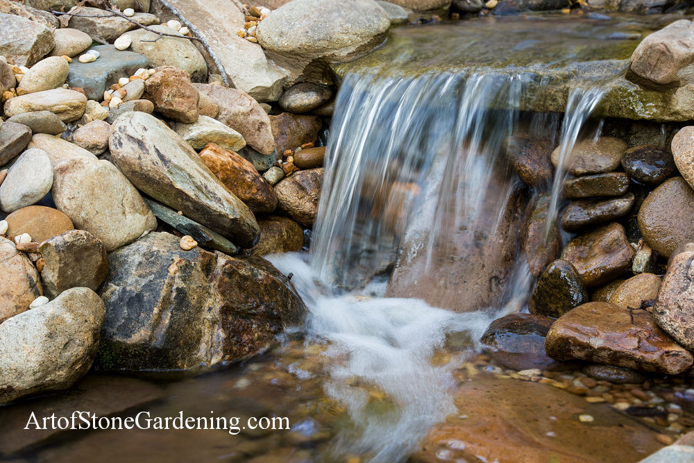 Water fall in motion