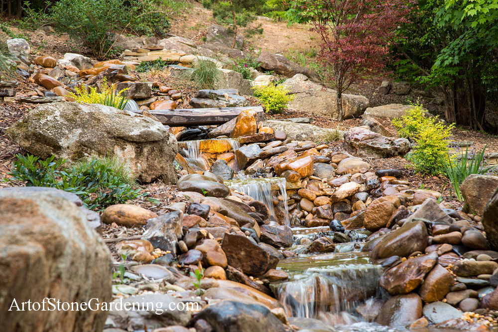 Stream and garden