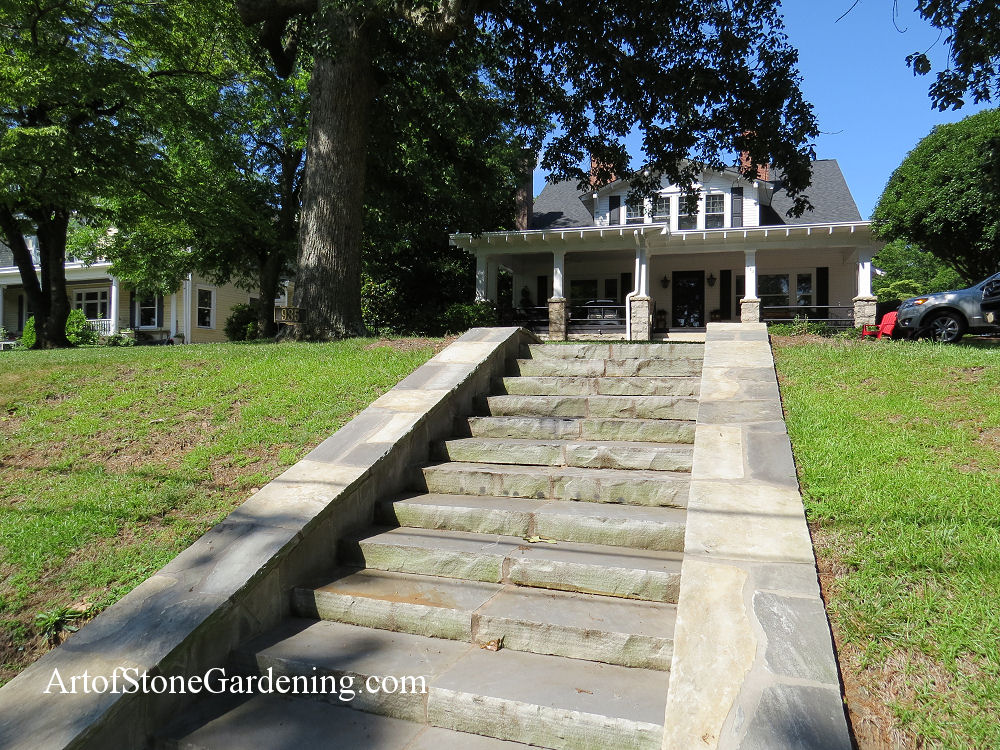 Outdoor Stone Stairs and Steps Art of Stone Gardening
