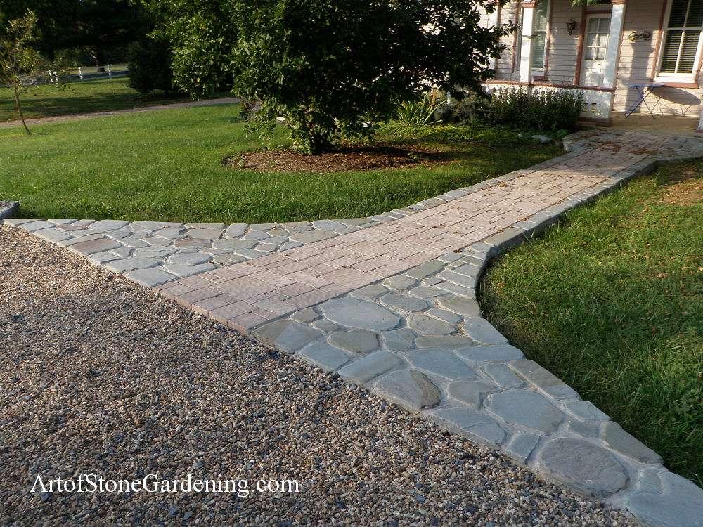 Bluestone and paver front door walkway