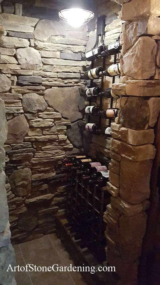 Masonry wine cellar