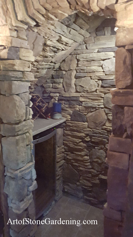 Stone wine cellar in Cleveland, GA