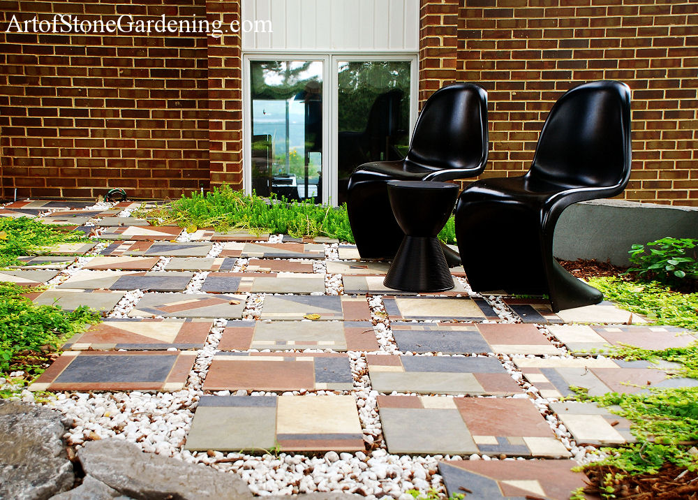 Outdoor tile patio