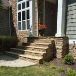 Gray Stone Steps Entrance