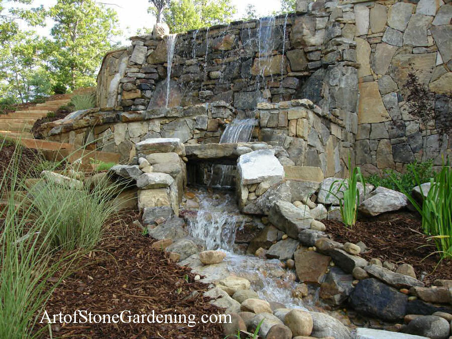 Two Level Waterfall And Stream